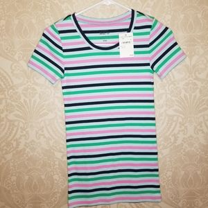 BOGO J.Crew Perfect Fit striped short sleeve tee